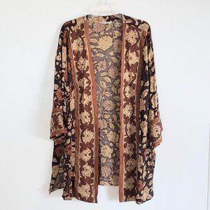 Soft Surroundings Women's Kimono Floral 29124 Med